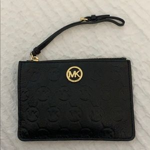 Leather Michael Kors Wristlet
